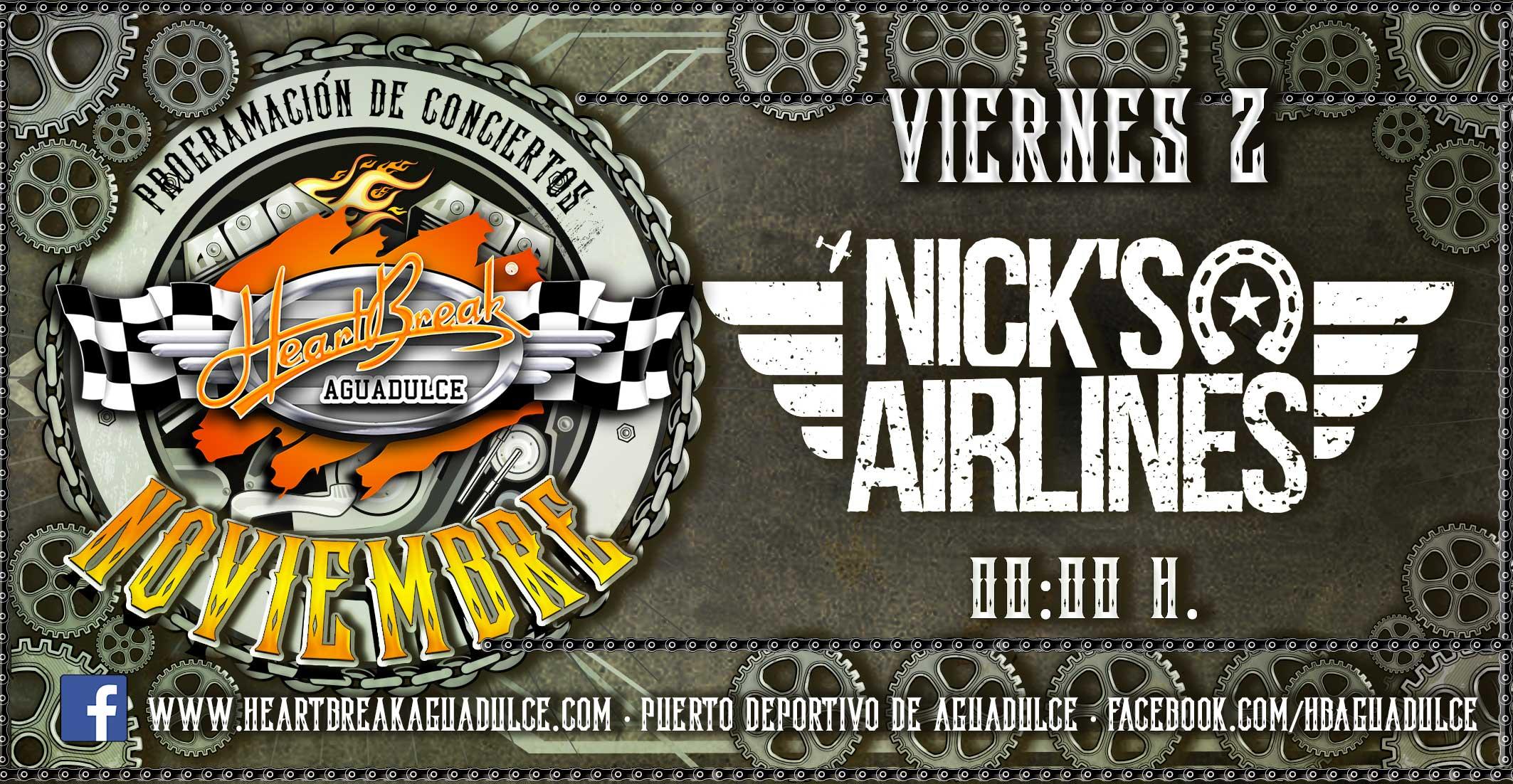 Concierto de Nicks Airlines