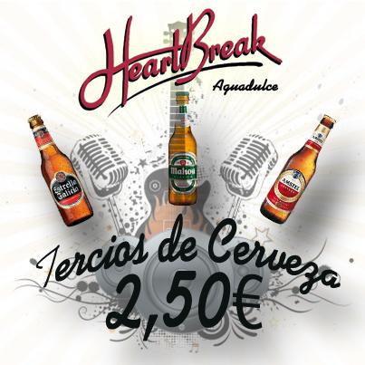 Tercios de cerveza a 2€